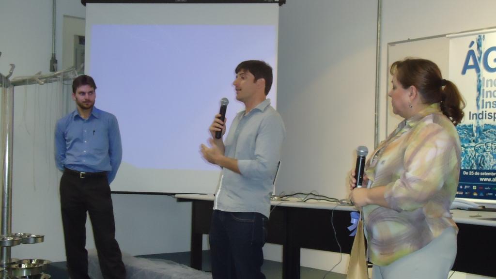 Manuel Strauch, Rafael Zaneti e Ana Cruzat